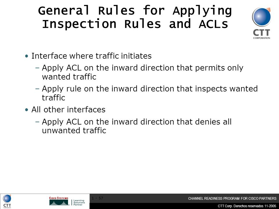General Rules for Applying Inspection Rules and ACLs