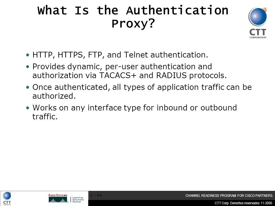 What Is the Authentication Proxy