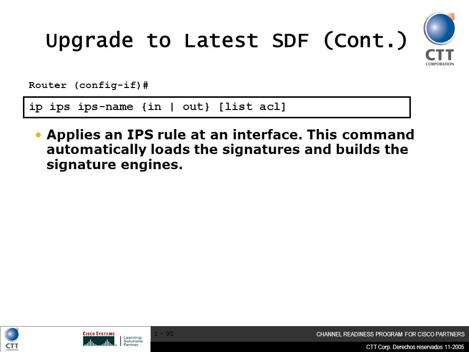 Upgrade to Latest SDF (Cont.)
