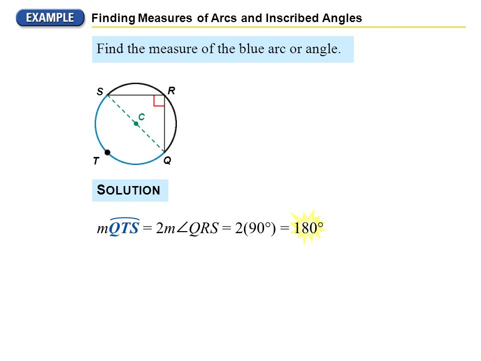 Finding Measures of Arcs and Inscribed Angles