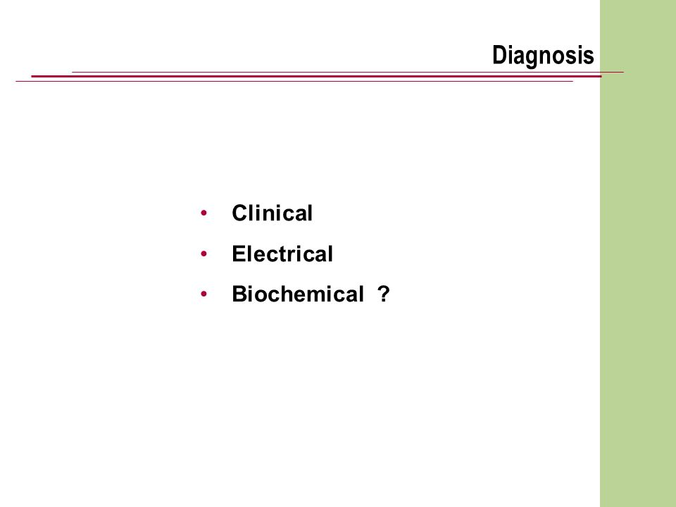 Diagnosis Clinical Electrical Biochemical