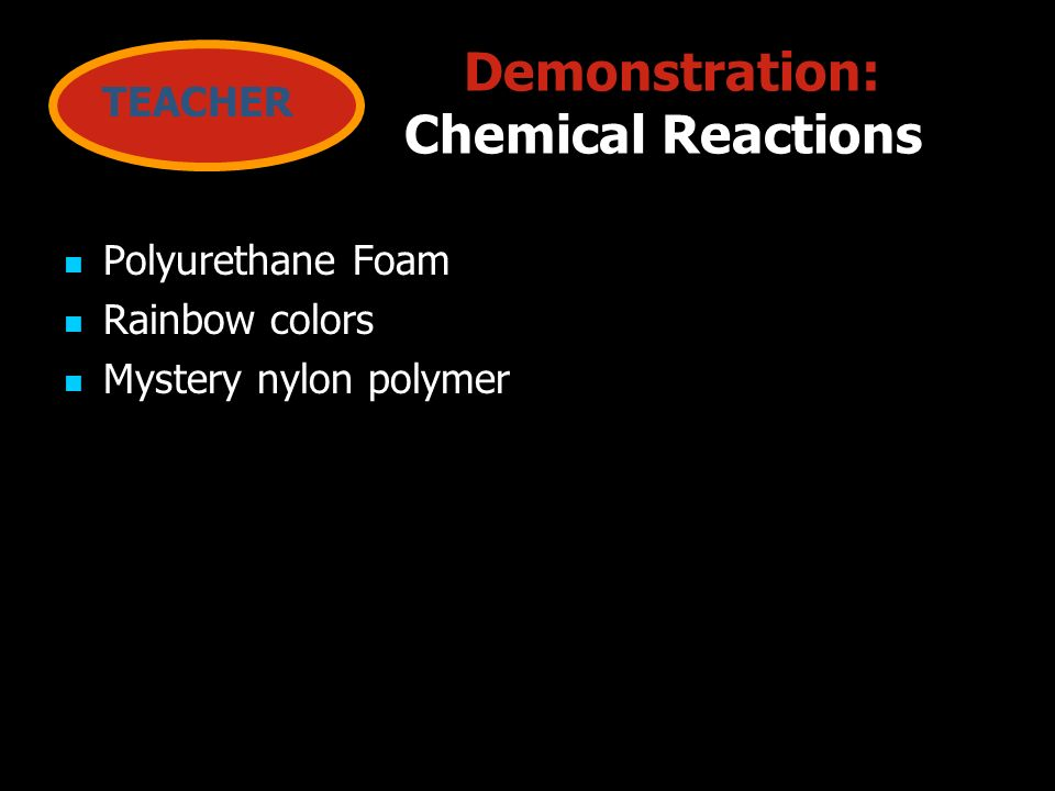 Demonstration: Chemical Reactions