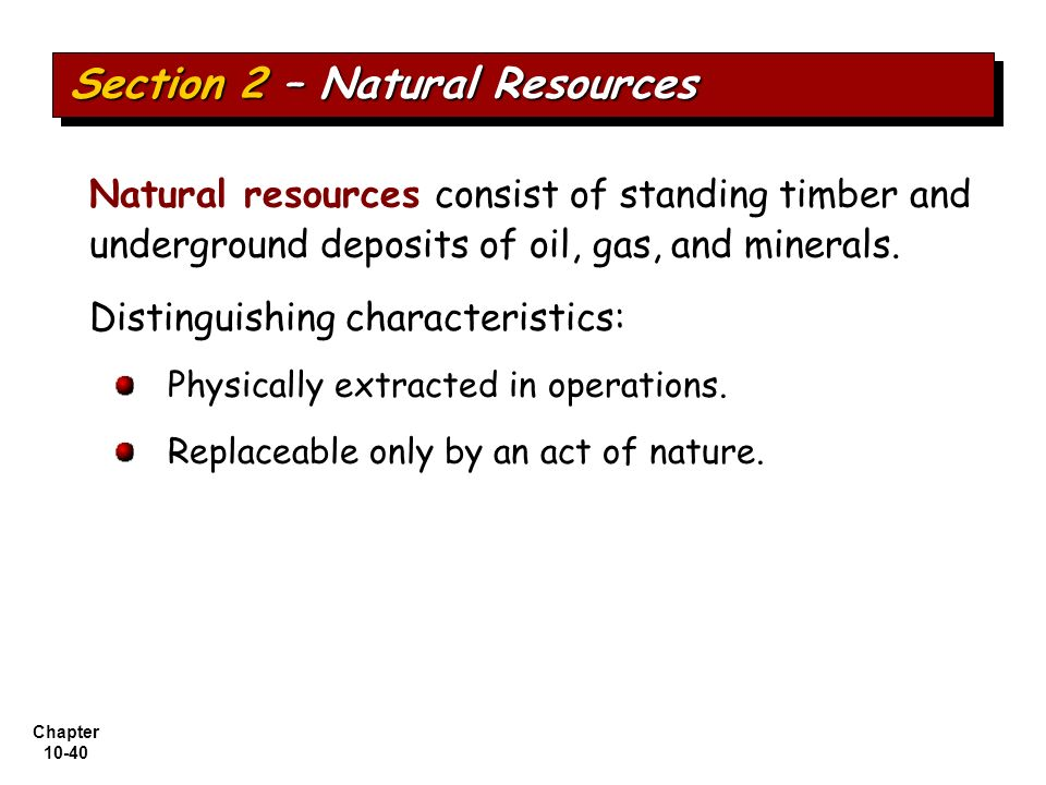 Section 2 – Natural Resources
