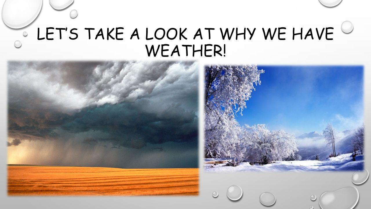 Let's take a look at why we have weather!