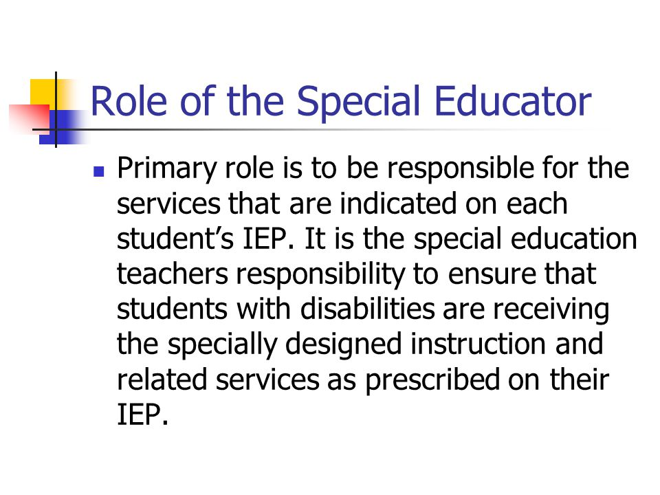 Role of the Special Educator