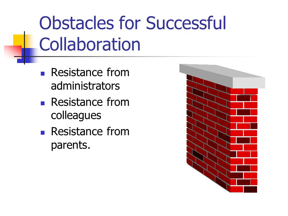 Obstacles for Successful Collaboration