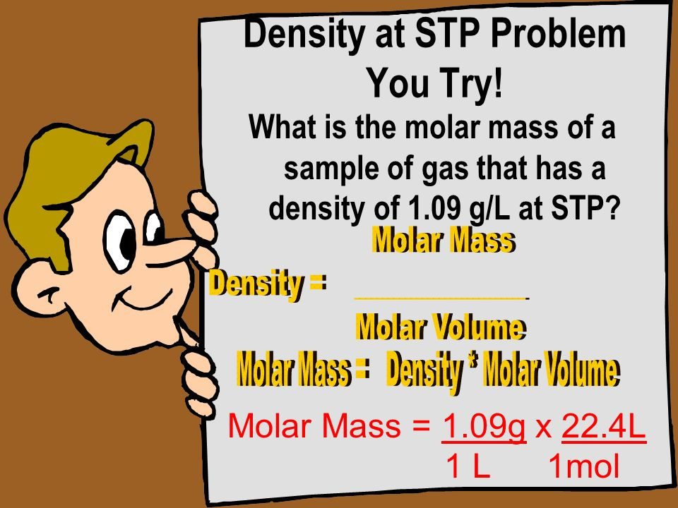 Density at STP Problem You Try!