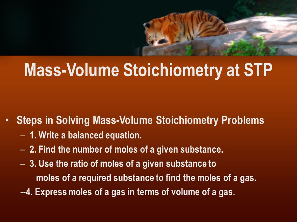 Mass-Volume Stoichiometry at STP