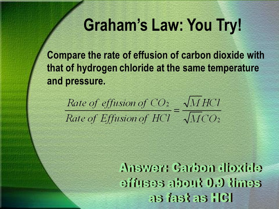 Answer: Carbon dioxide