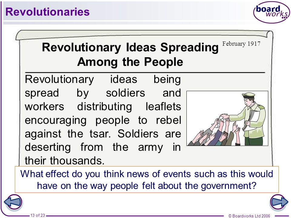 Revolutionary Ideas Spreading Among the People