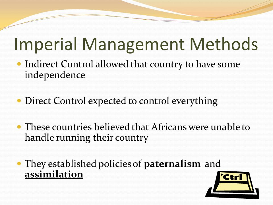 Imperial Management Methods
