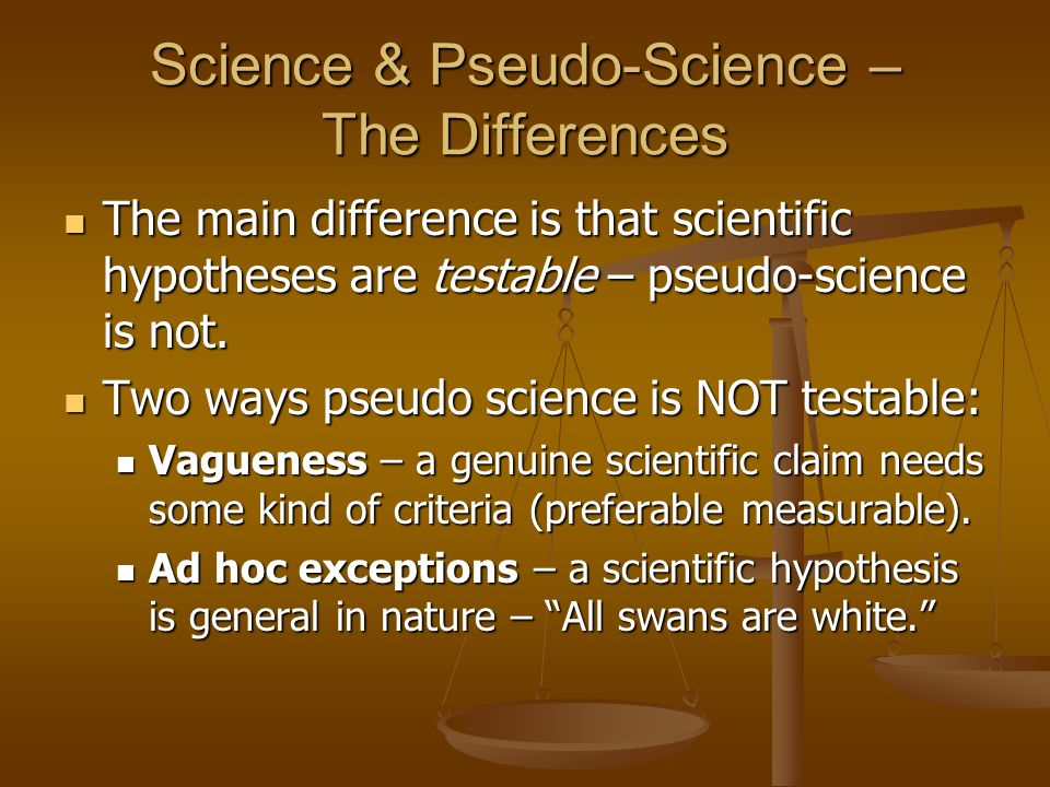 Science & Pseudo-Science – The Differences