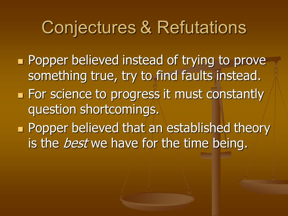 Conjectures & Refutations