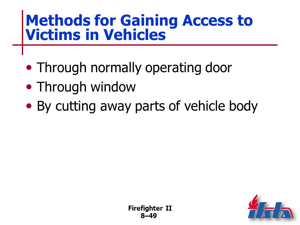 Methods for Gaining Access to Victims in Vehicles