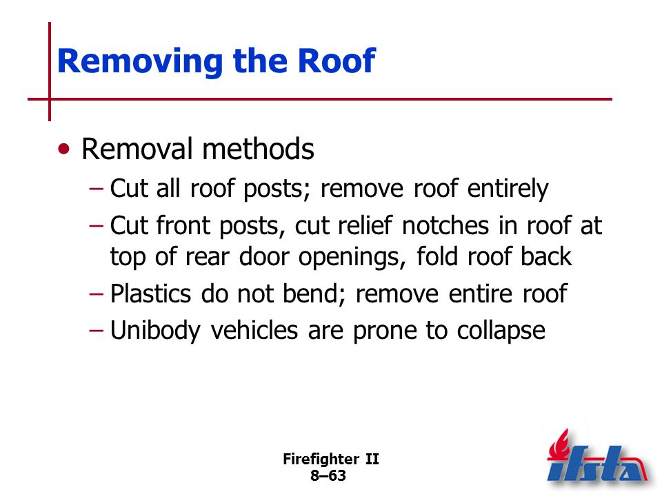 Removing the Roof Removal methods