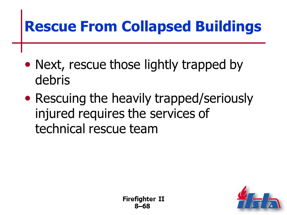 Rescue From Collapsed Buildings