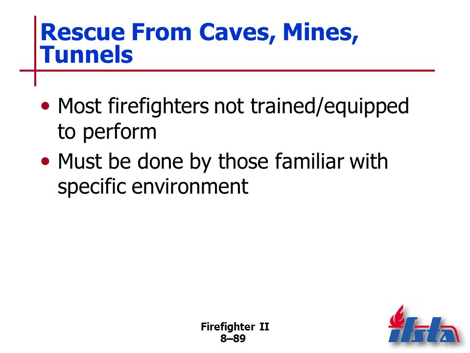 Rescue From Caves, Mines, Tunnels
