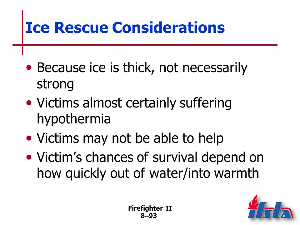 Ice Rescue Considerations