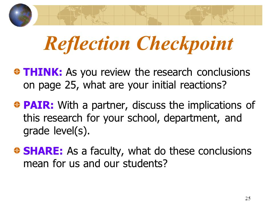 Reflection Checkpoint