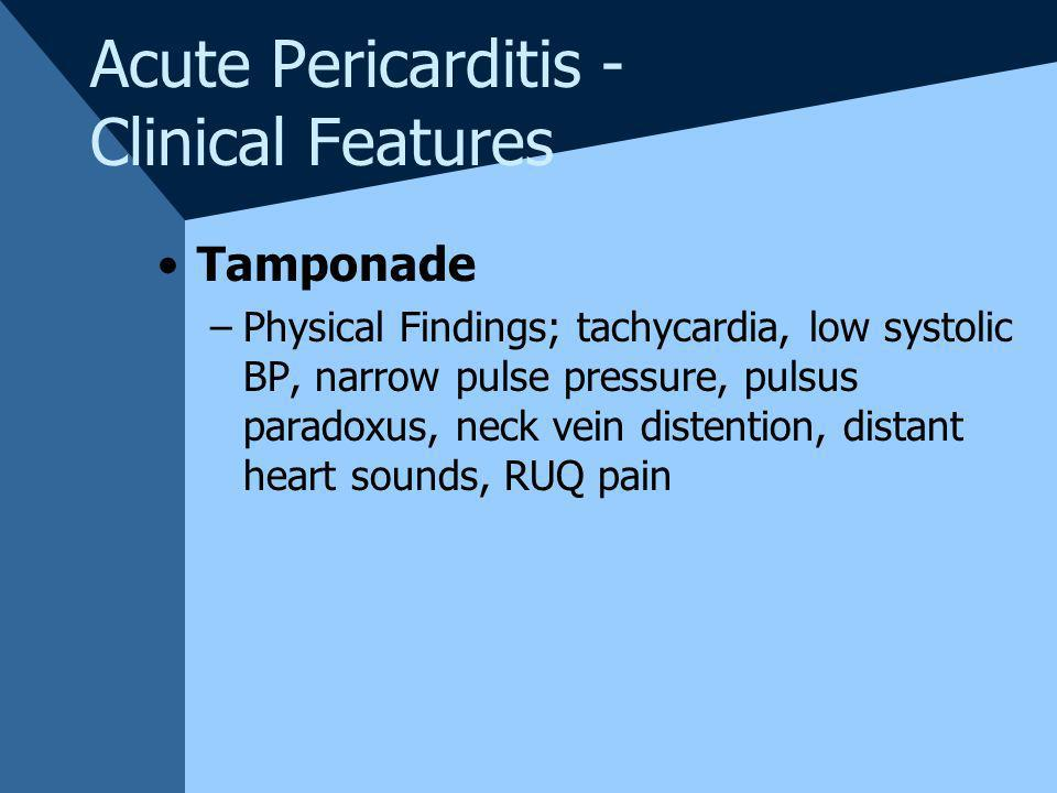 Acute Pericarditis - Clinical Features