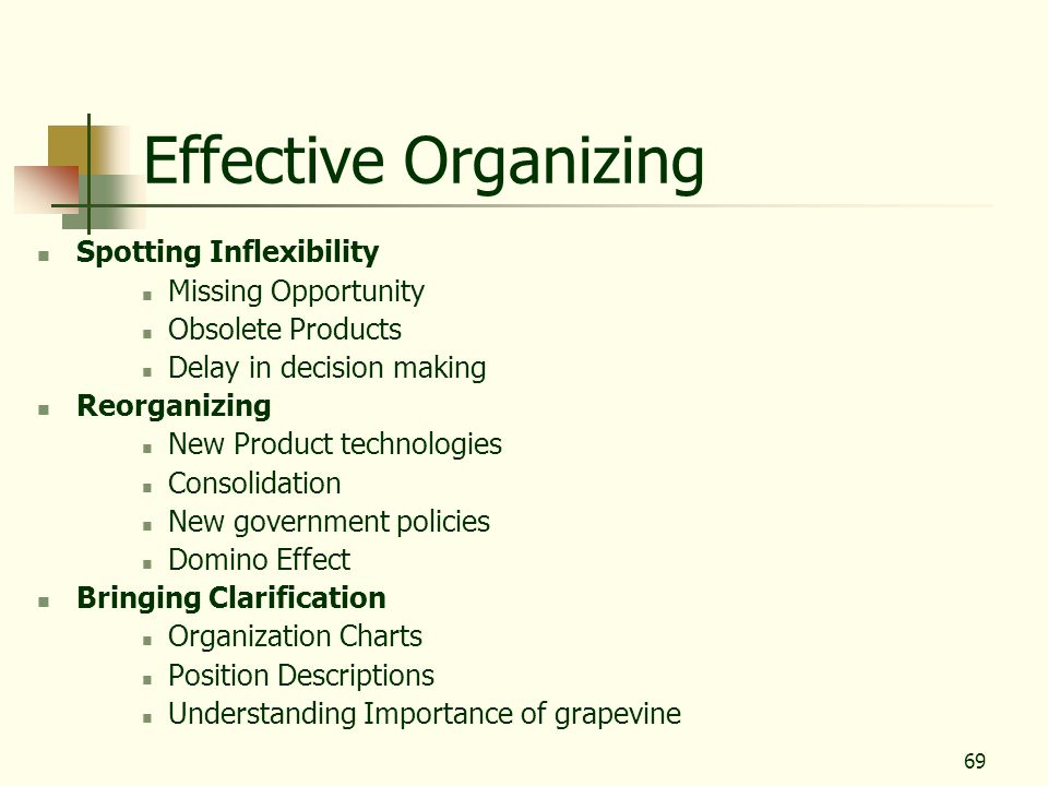 Effective Organizing Spotting Inflexibility Missing Opportunity
