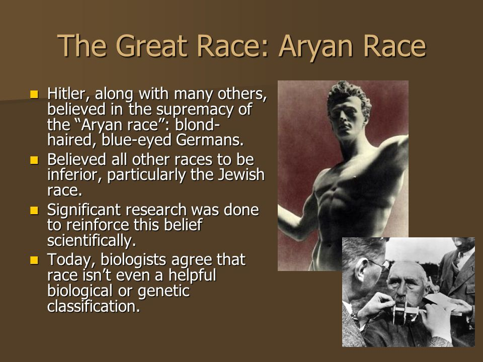 The Great Race: Aryan Race