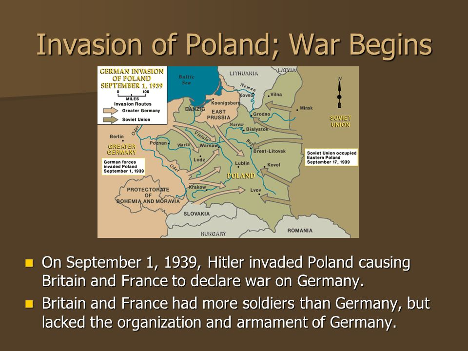 Invasion of Poland; War Begins