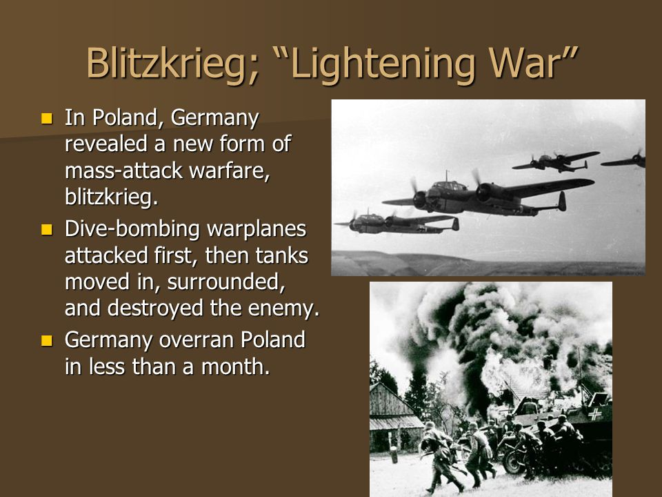 Blitzkrieg; Lightening War