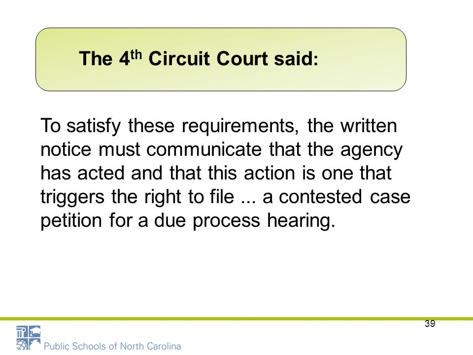 The 4th Circuit Court said: