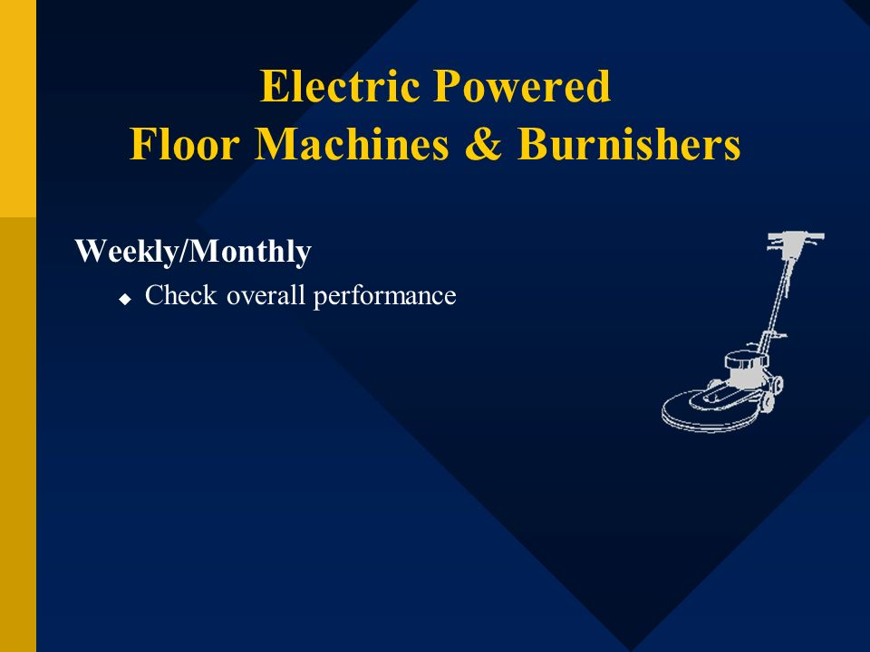 Electric Powered Floor Machines & Burnishers