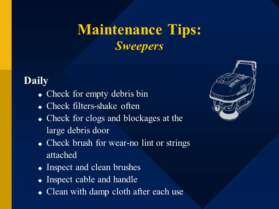 Maintenance Tips: Sweepers