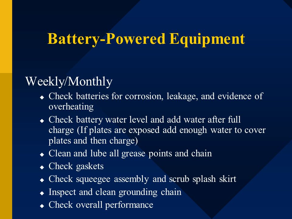 Battery-Powered Equipment