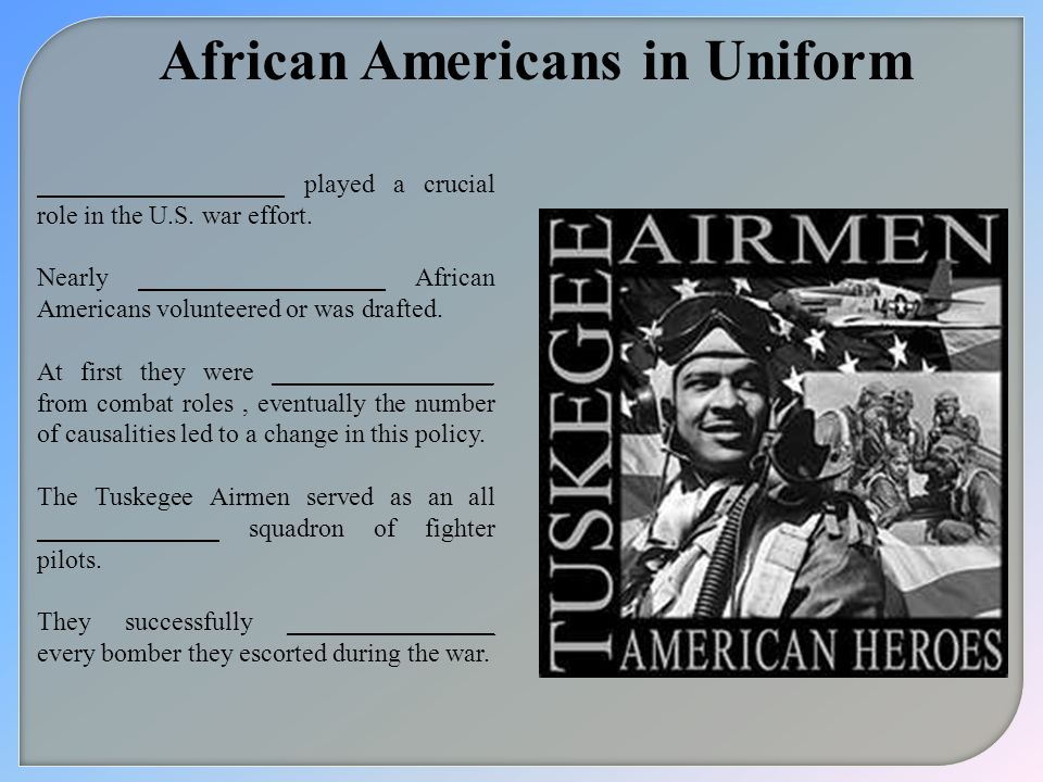 African Americans in Uniform