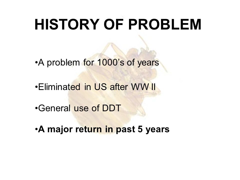 HISTORY OF PROBLEM A problem for 1000's of years