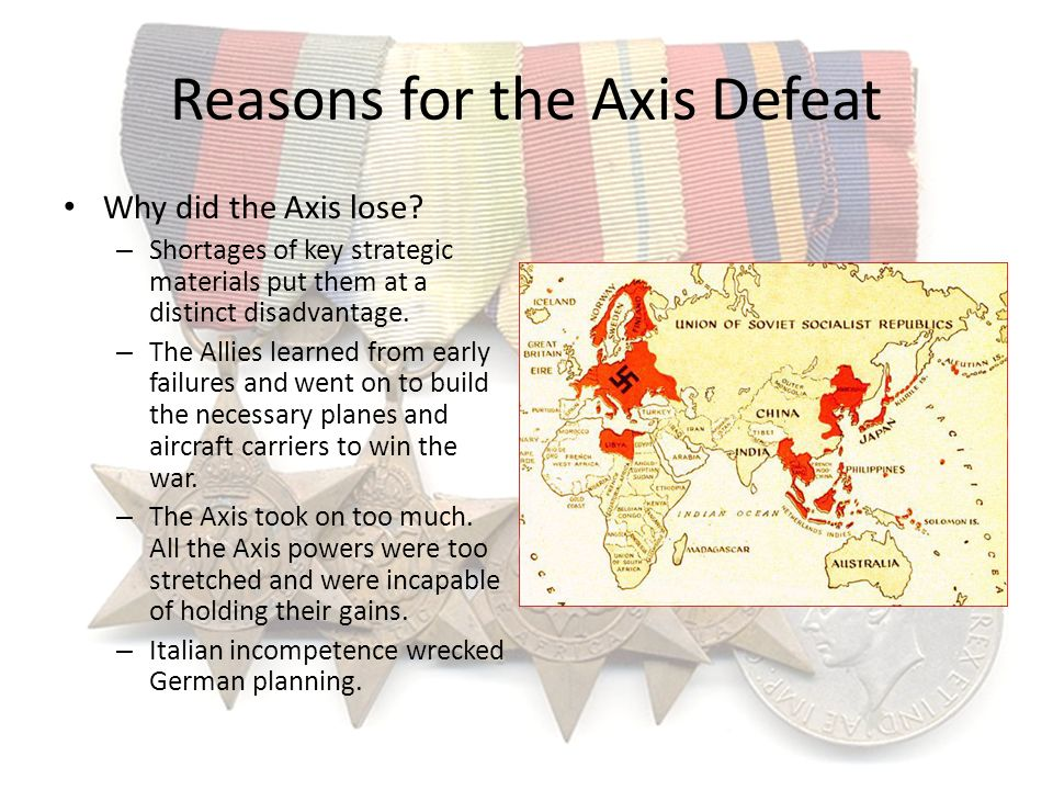Reasons for the Axis Defeat