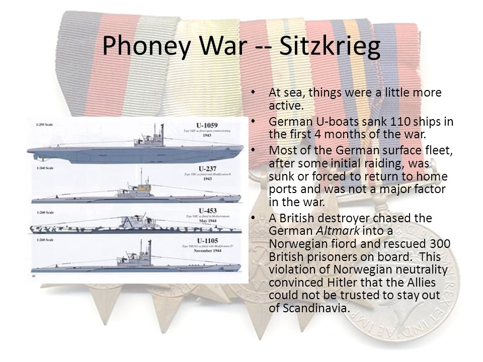 Phoney War -- Sitzkrieg