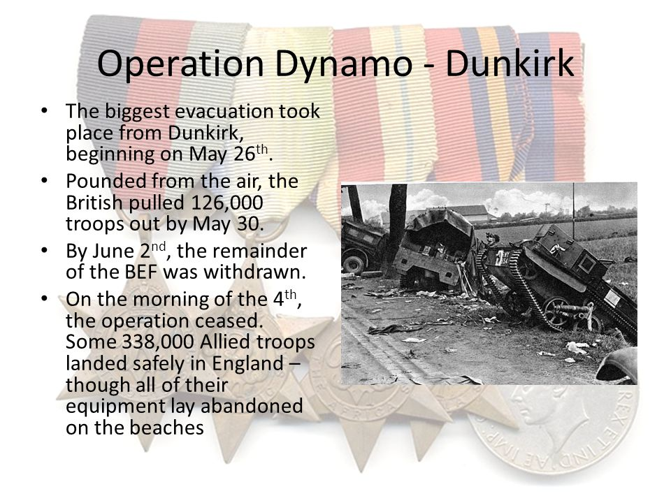 Operation Dynamo - Dunkirk