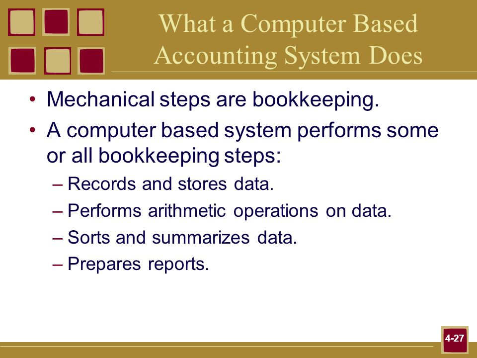 What a Computer Based Accounting System Does