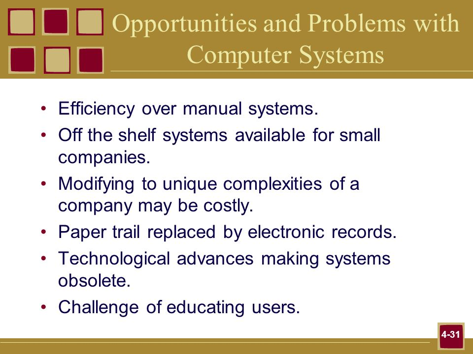 Opportunities and Problems with Computer Systems