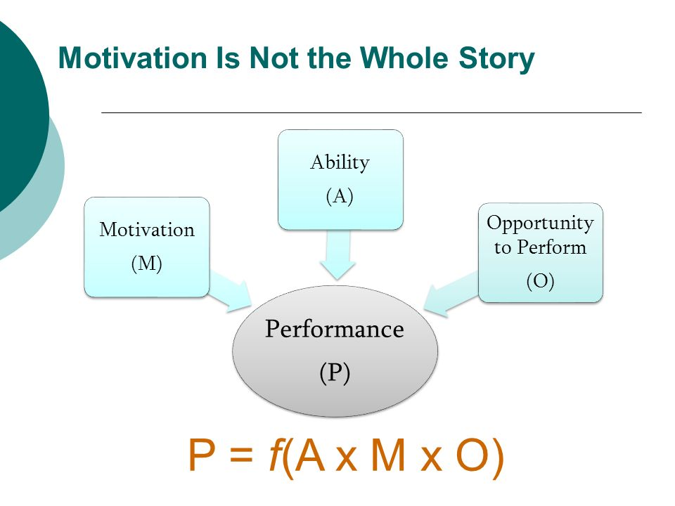 Motivation Is Not the Whole Story