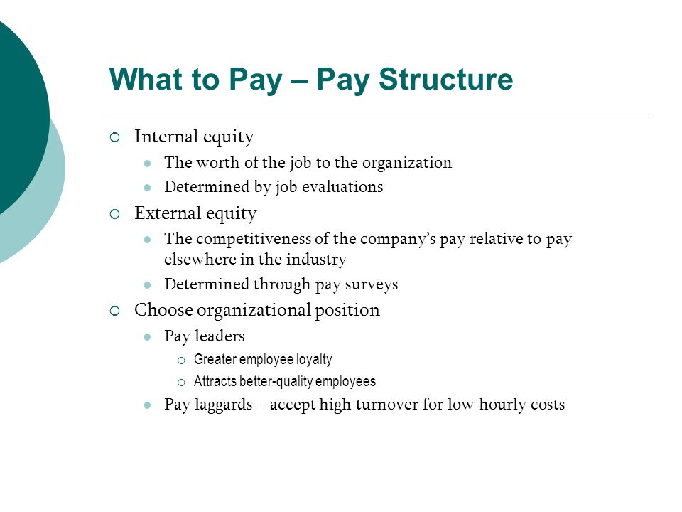 What to Pay – Pay Structure