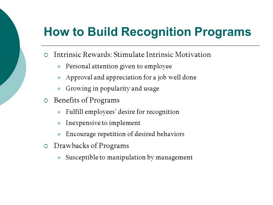 How to Build Recognition Programs