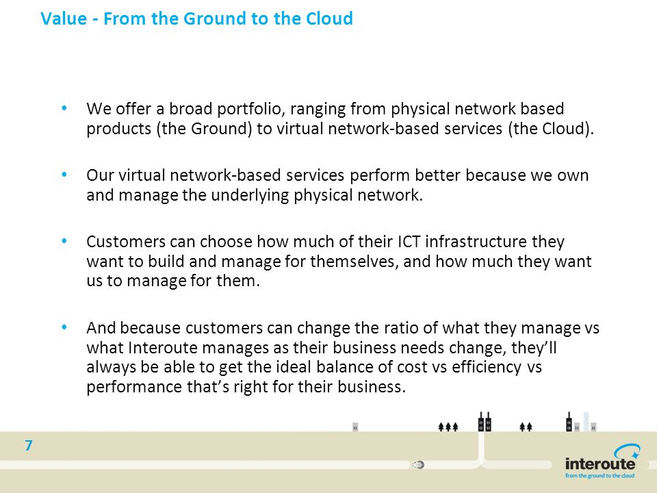 Value - From the Ground to the Cloud