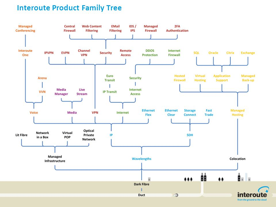 Interoute Product Family Tree