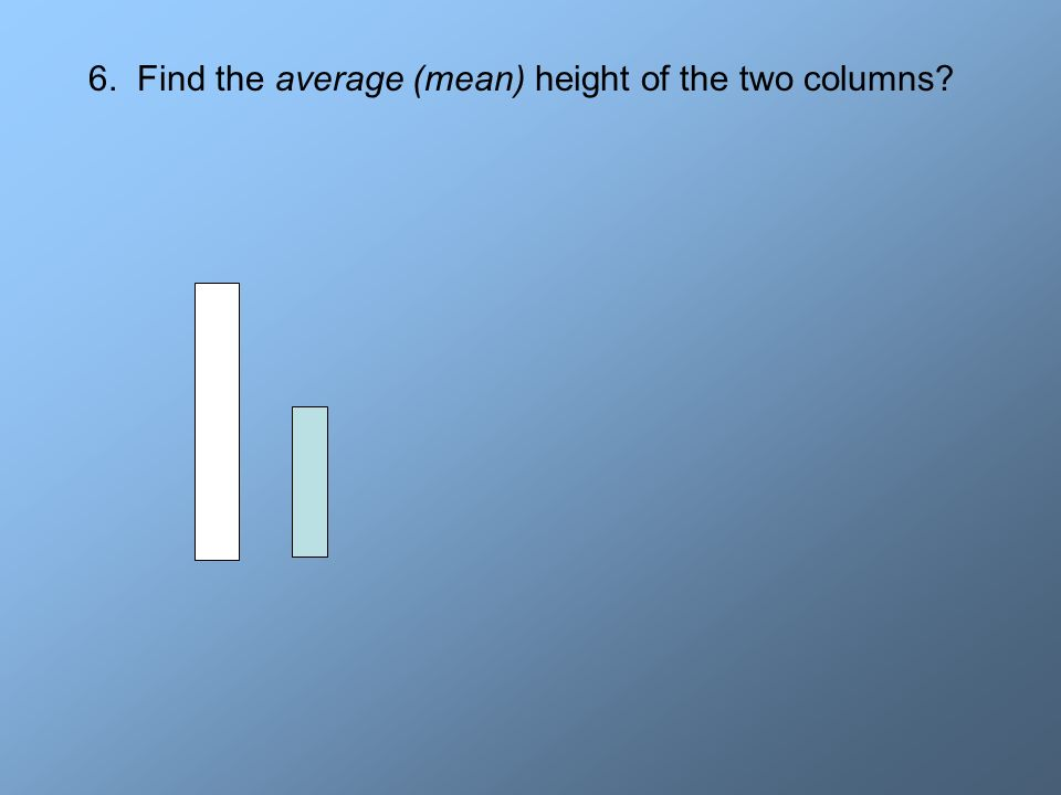 6. Find the average (mean) height of the two columns