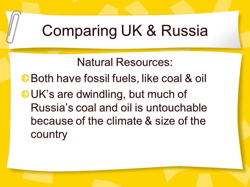 Comparing UK & Russia Natural Resources: