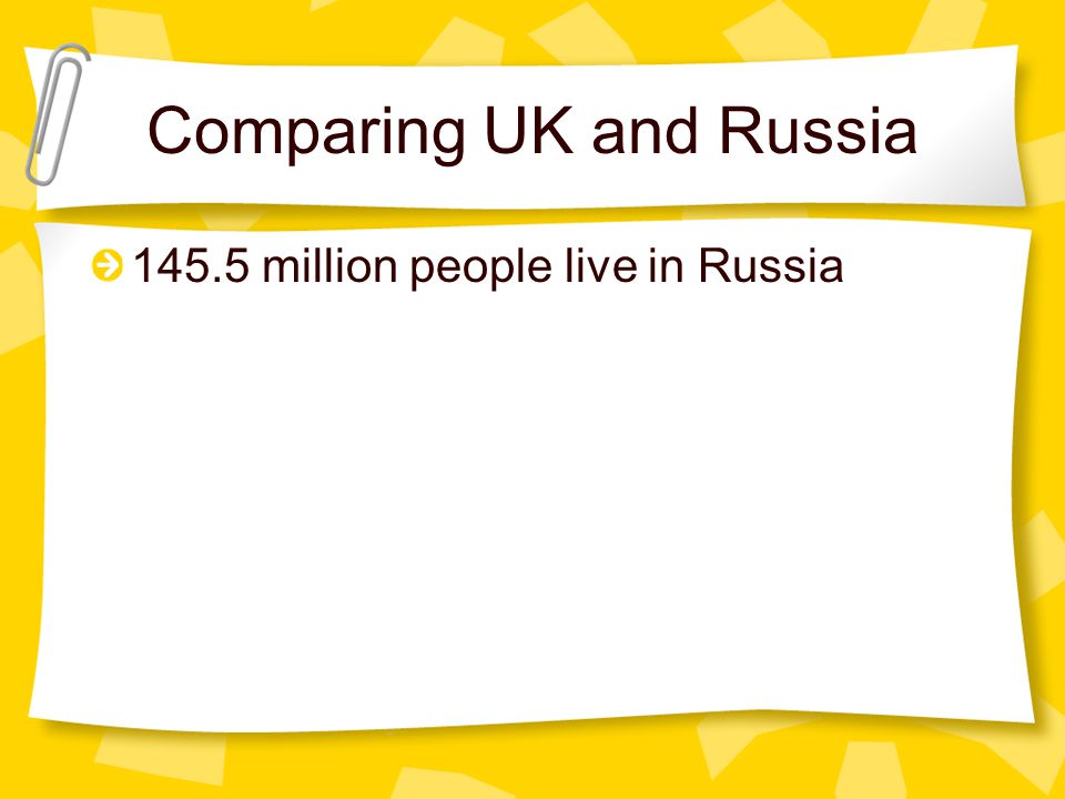 Comparing UK and Russia