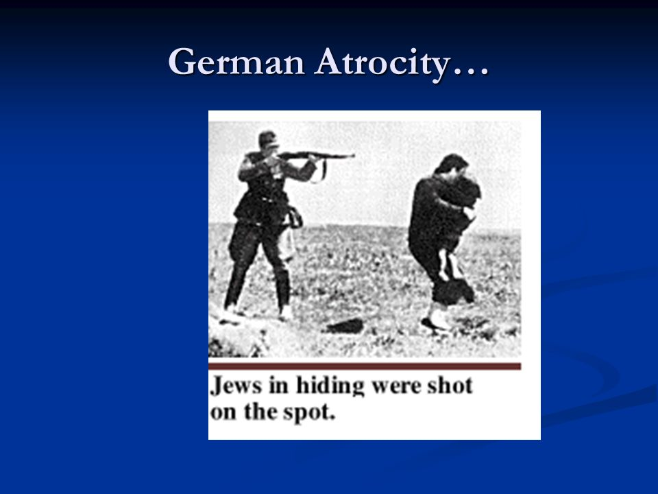 German Atrocity…
