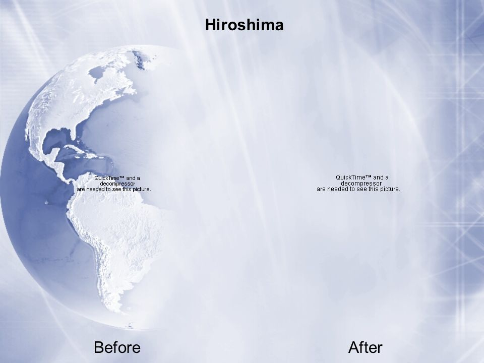 Hiroshima Before After