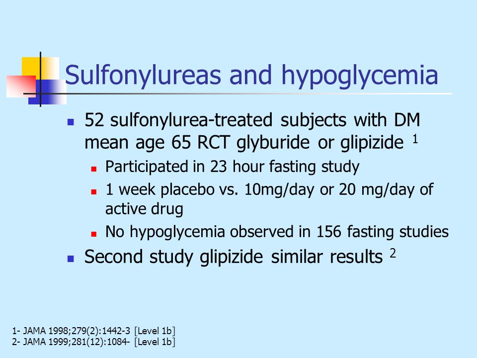 Sulfonylureas and hypoglycemia
